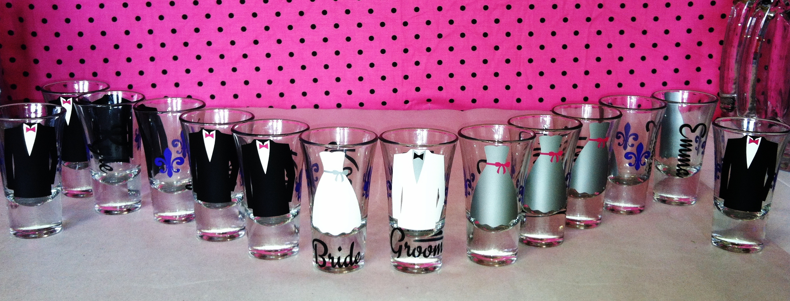 14 Personalized Shot Glasses.Great For Bachelorette And Wedding ...