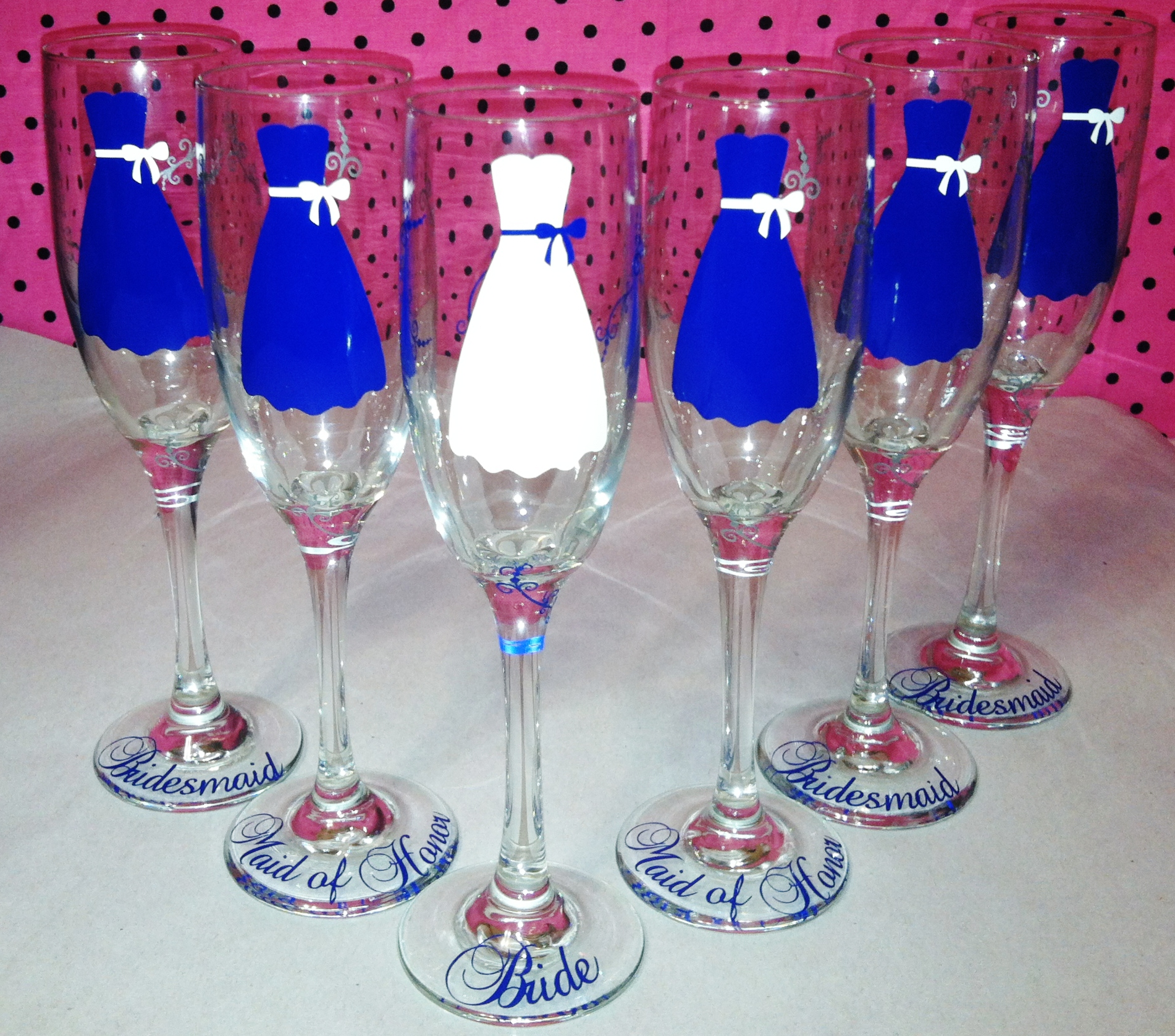 Top 6 Wedding Champagne Flutes, Personalized Bride Dress And Groom  TI89